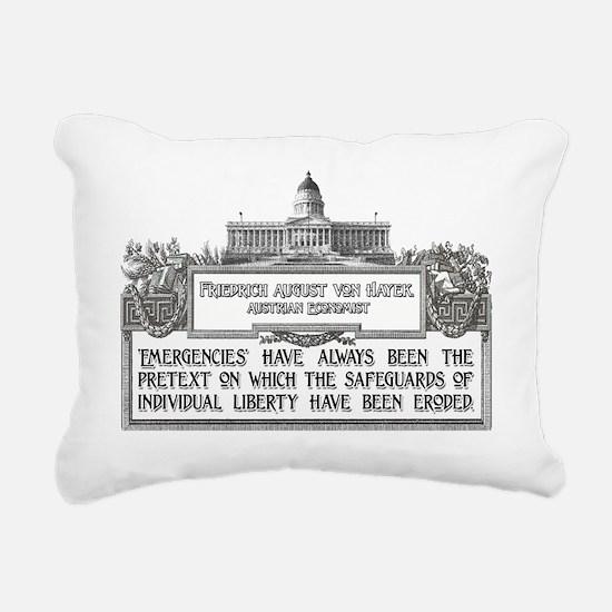 Von Hayek darks Rectangular Canvas Pillow