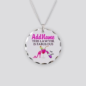 TOP LAWYER Necklace Circle Charm