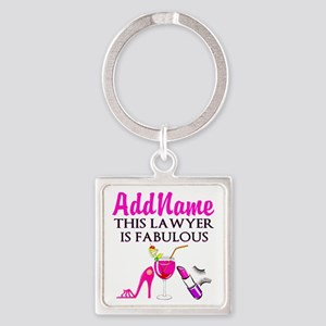 TOP LAWYER Square Keychain