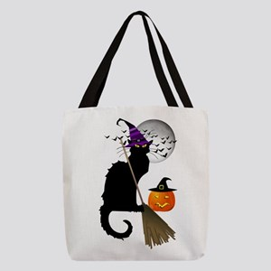 Le Chat Noir - Halloween Witch Polyester Tote Bag