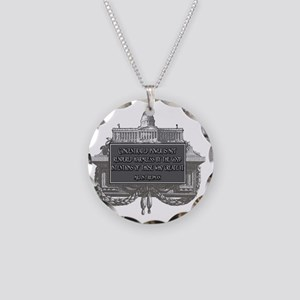 2-Milton Friedman on Concent Necklace Circle Charm