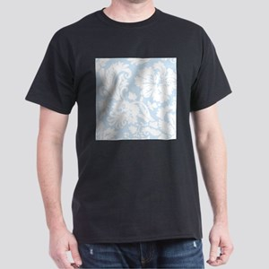 Light Blue and White Damask T-Shirt