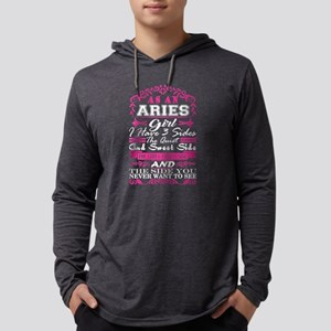 Aries Girl I Have 3 Sides Quie Long Sleeve T-Shirt