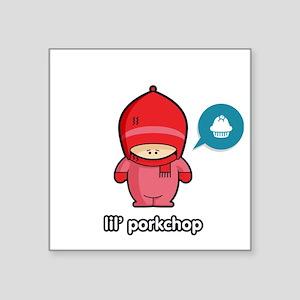 "Porkchop PNK Square Sticker 3"" x 3"""