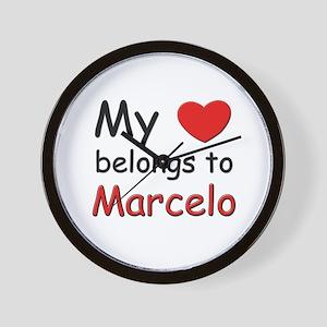 My heart belongs to marcelo Wall Clock