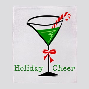 Candy Cane Martini Throw Blanket