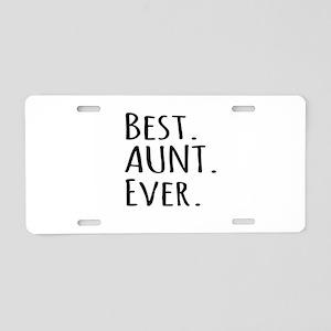 Best Aunt Ever Aluminum License Plate