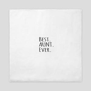 Best Aunt Ever Queen Duvet