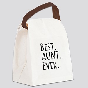 Best Aunt Ever Canvas Lunch Bag