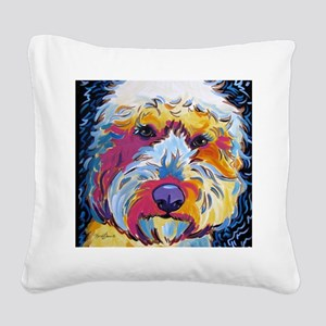 Sunshine The Doodle Square Canvas Pillow