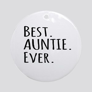 Best Auntie Ever Ornament (Round)