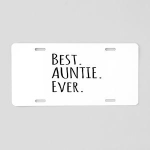 Best Auntie Ever Aluminum License Plate