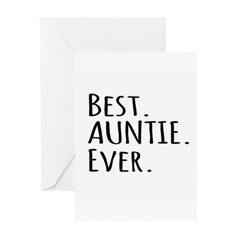 Best Auntie Ever Greeting Cards