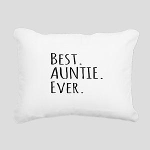 Best Auntie Ever Rectangular Canvas Pillow