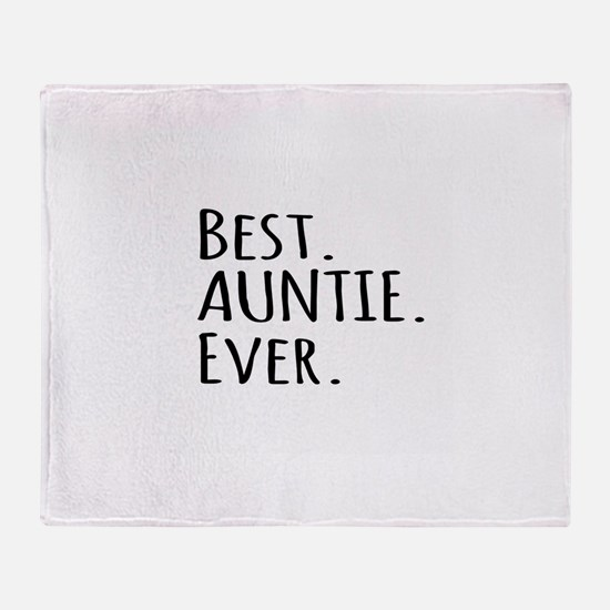 Best Auntie Ever Throw Blanket