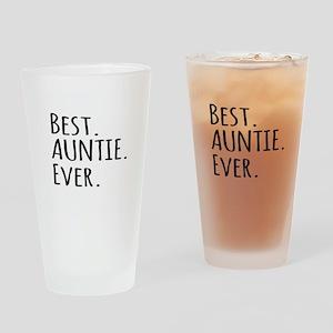 Best Auntie Ever Drinking Glass