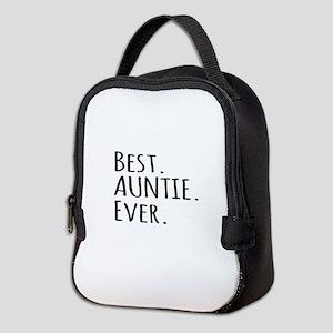 Best Auntie Ever Neoprene Lunch Bag