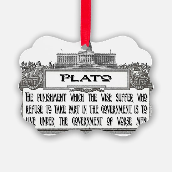 Plato Punishment of the Wise ligh Ornament