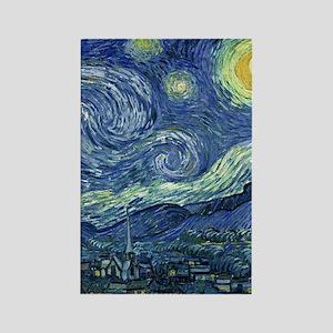 Van Gogh Starry Night Rectangle Magnet