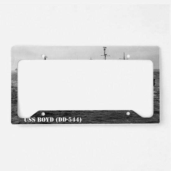 boyd mini poster print License Plate Holder