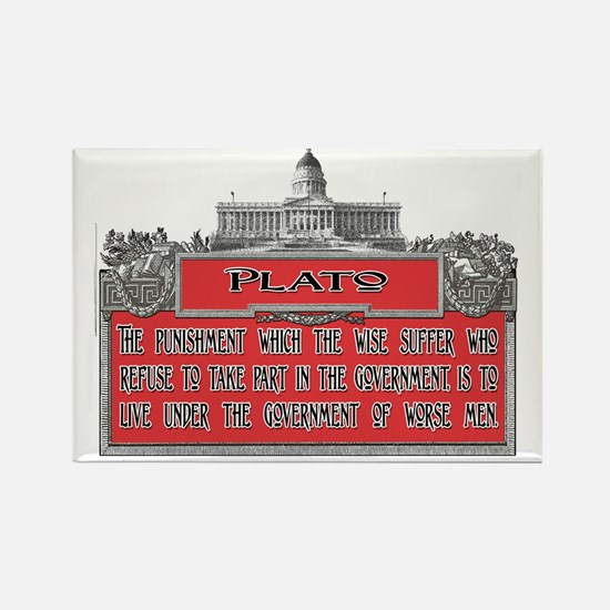 Plato Punishment of the Wise ligh Rectangle Magnet