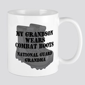 National Guard Grandma Grandson Combat Boots Mugs