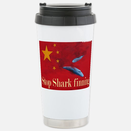 shark finning tee shirt Stainless Steel Travel Mug
