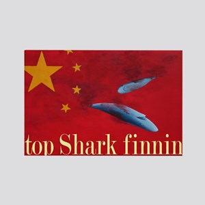 shark finning tee shirt Rectangle Magnet