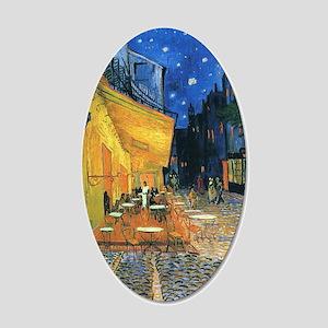 Van Gogh Cafe Terrace 35x21 Oval Wall Decal