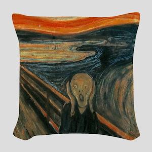 The Scream by Munch Woven Throw Pillow