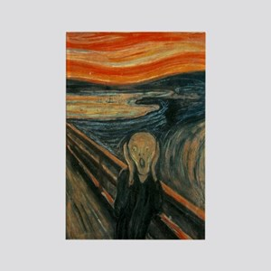 The Scream by Munch Rectangle Magnet