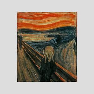 The Scream by Munch Throw Blanket