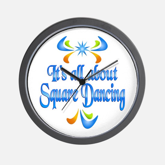 About Square Dancing Wall Clock