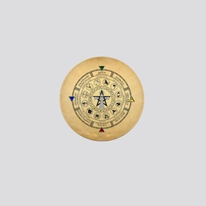 Wheel of the Year Zodiac Sabbats Mini Button