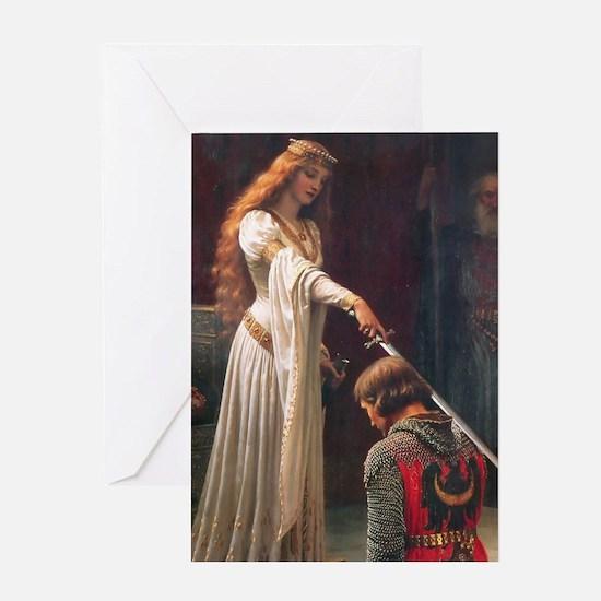 The Accolade by Blair Leighton Greeting Card