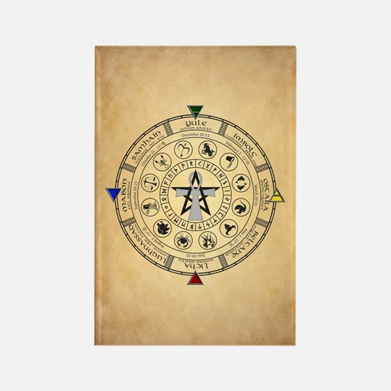Wheel of the Year Zodiac Sabbats Magnets