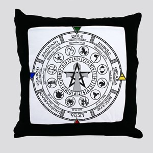 Wheel of the Year Zodiac Sabats Throw Pillow
