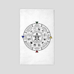 Wheel of the Year Zodiac Sabats 3'x5' Area Rug