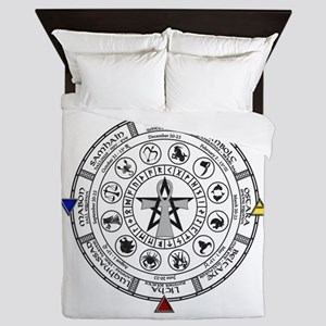 Wheel of the Year Zodiac Sabats Queen Duvet