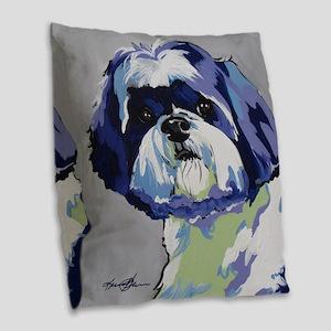 ShihTzu - Ringo s6 Burlap Throw Pillow