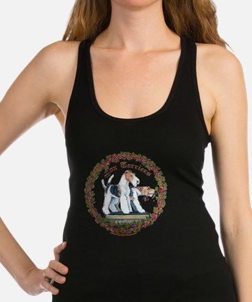 fox squre with vine newest Racerback Tank Top