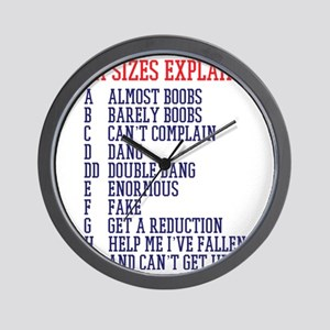 Bra Sizes Wall Clock