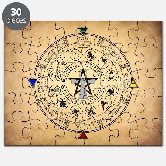 Wheel of the Year Zodiac Sabbats Puzzle