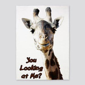 You Looking at Me? giraffe 5'x7'Area Rug