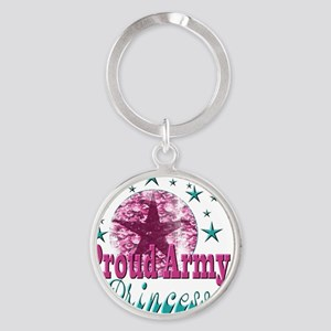 2-Grunge and Stars Princess(kids) Round Keychain