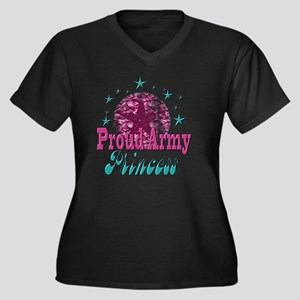 2-Grunge and Women's Plus Size Dark V-Neck T-Shirt