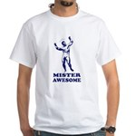 MISTER AWESOME - White T-shirt