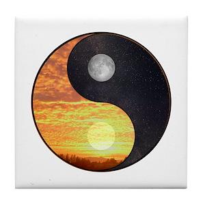 Yin Yang Sun And Moon Coasters Cafepress