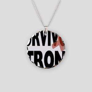 Survivor Strong Necklace Circle Charm