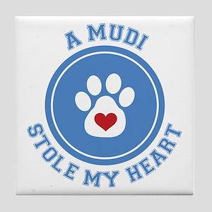 Mudi/My Heart Tile Coaster